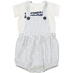 Overall Camion Check Navy -...
