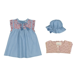 Dress Tara Chambray - BLUE