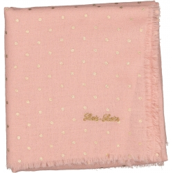 SCARF FANFAN GOLD DOTS - PINK