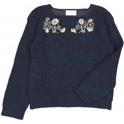 PULL ROXY KNITTED WOOL - NAVY