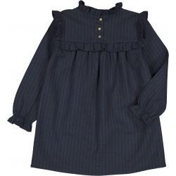 DRESS ANNICK FLANELLE - NAVY