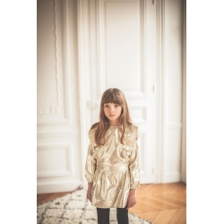 DRESS GUILLEMETTE LAME - GOLD