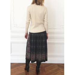 SKIRT ROSIE CASHMERE - BLACK