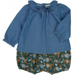 TUNIC ALICIA CHAMBRAY - BLUE