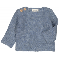PULL MOUSSE MOHAIR - BLUE
