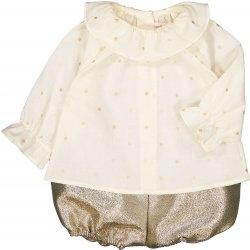 Tunic Lilie Dots Gold - OFF...